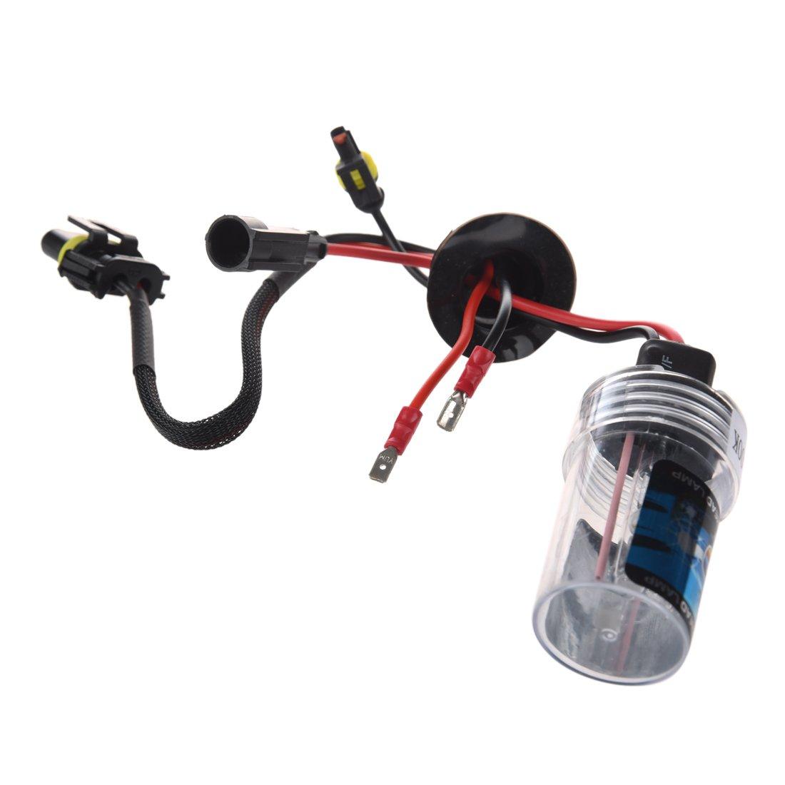 2X Xenon HID Kit Car Auto lampadina del faro della luce della lampadina Per H7 35W DC 12V H7-10000K SODIAL R