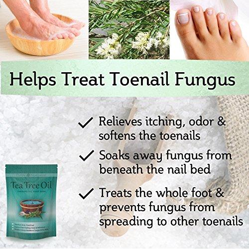 Tea Tree Oil Foot Soak With Epsom Salt, Refreshes Feet and Toenails ...