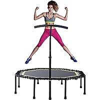 Gulujoy Pliable Fitness Trampoline Interieur Syst/ème de Cordes Bungee avec Barre R/églable pour Adultes Exercice Cardio Maison