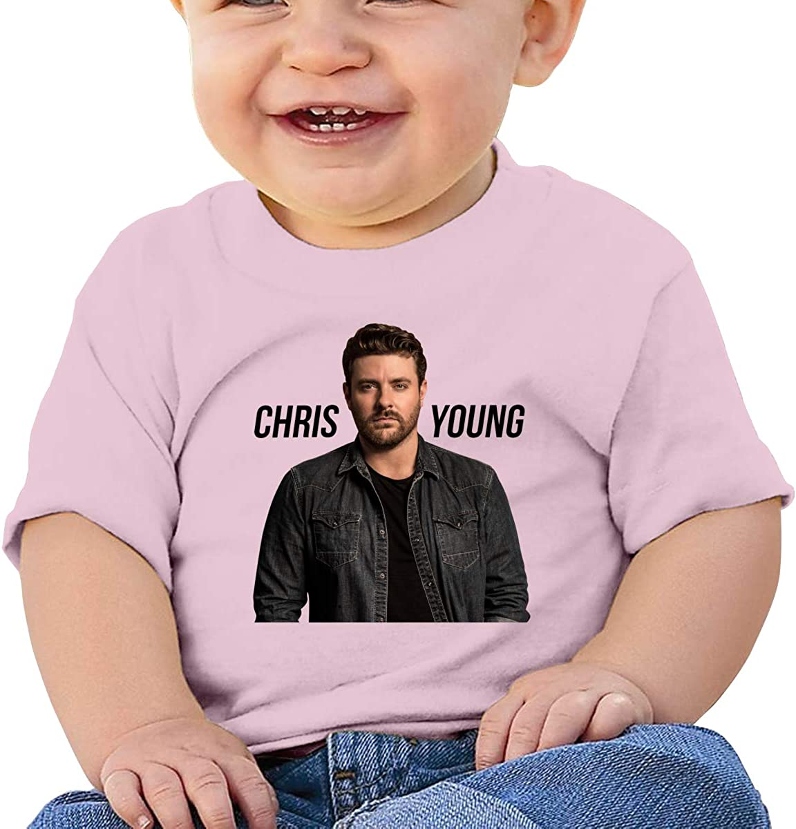 Honshang Chris Young Pink Tshirts for Infant Tshirts