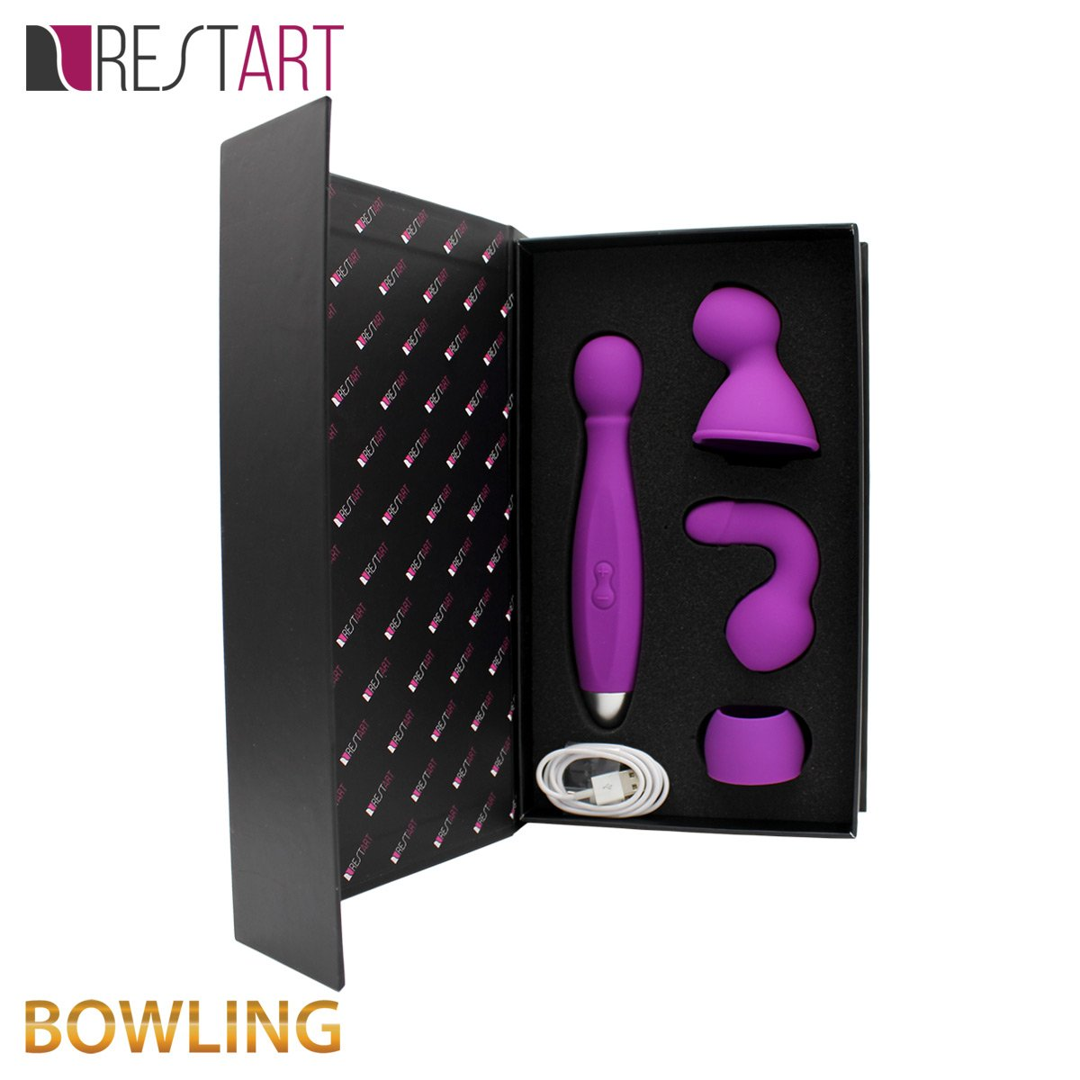 Varita mágica Spot clitoral Pene Vibrador g y y g pecho 3 Boquilla Simulator para mujeres hombres impermeable silicona Cargador USB (Edición Limitada, limitada Recubrimiento) 59336c
