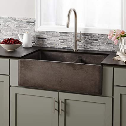 Native Trails NSKD3321-S Farmhouse Apron-Front/Under mount Native Stone  Kitchen Sink, 33\
