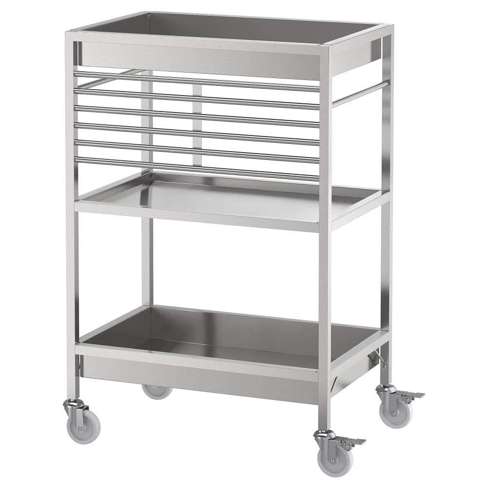 KUNGSFORS Kitchen Trolley Stainless Steel, 60 X 40 X 90H cm