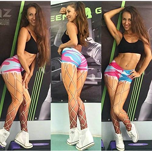 JIALELE Pantalon De Yoga Mesdames Women'S Stamp 3D Laisser Deux Pantalons Serrés Sports Yoga