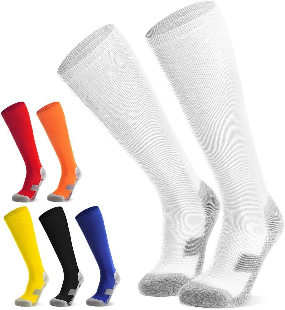 Calcetines de Entrenamiento Calcetines Deportivos Calcetines Altos hasta la Rodilla de f/útbol 6 Colores Deporte Rugby j/óvenes Northdeer Calcetines de f/útbol para ni/ños