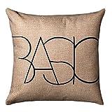 Square Decorative Cotton Linen Cushion /Comfortable Throw Pillow /Sofa Home Decor Features Design/