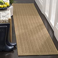 Safavieh Palm Beach Collection PAB321M Maize Sisal & Jute Runner (2 x 8)