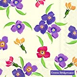 Emma Bridgewater 20 Paper Luncheon Napkins Wallflower floral 33 cm square by Emma Bridgewater