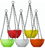 Khoji Diamond Hanging Pots (Multicoour)- Set of 5