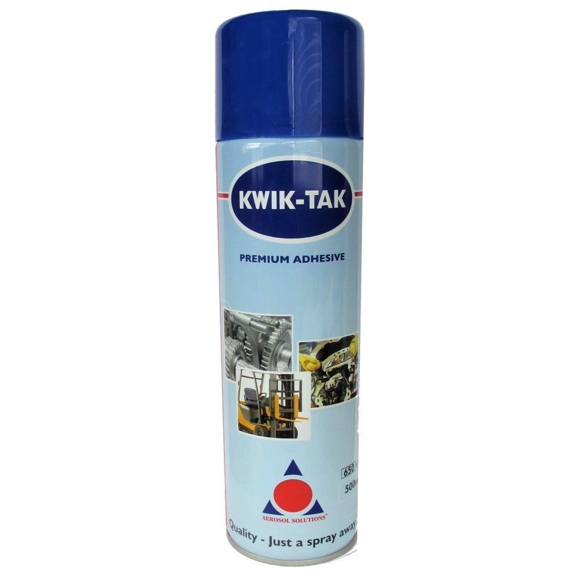 Aerosol Solution Kwik Tak Spray Premium Adhesive 500ml Kwik-Tak