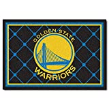 FANMATS NBA Golden State Warriors Nylon Face 5X8 Plush Rug