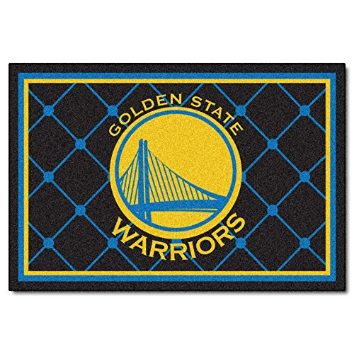 FANMATS NBA Golden State Warriors Nylon Face 5X8 Plush Rug by Fanmats