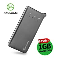 GlocalMe U2 4G Mobile Hotspot Global Wi-Fi with 1GB Global Initial Data, SIM Free, Coverage in Over 100 Countries Featuring Free Roaming, Compatible with Smartphones, Pads, Laptops and More(Black)