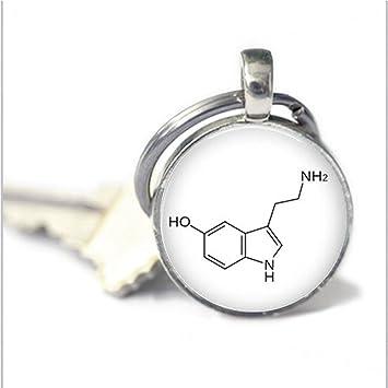 xiaoaosn Química Llavero - Llavero, diseño de molécula de ...