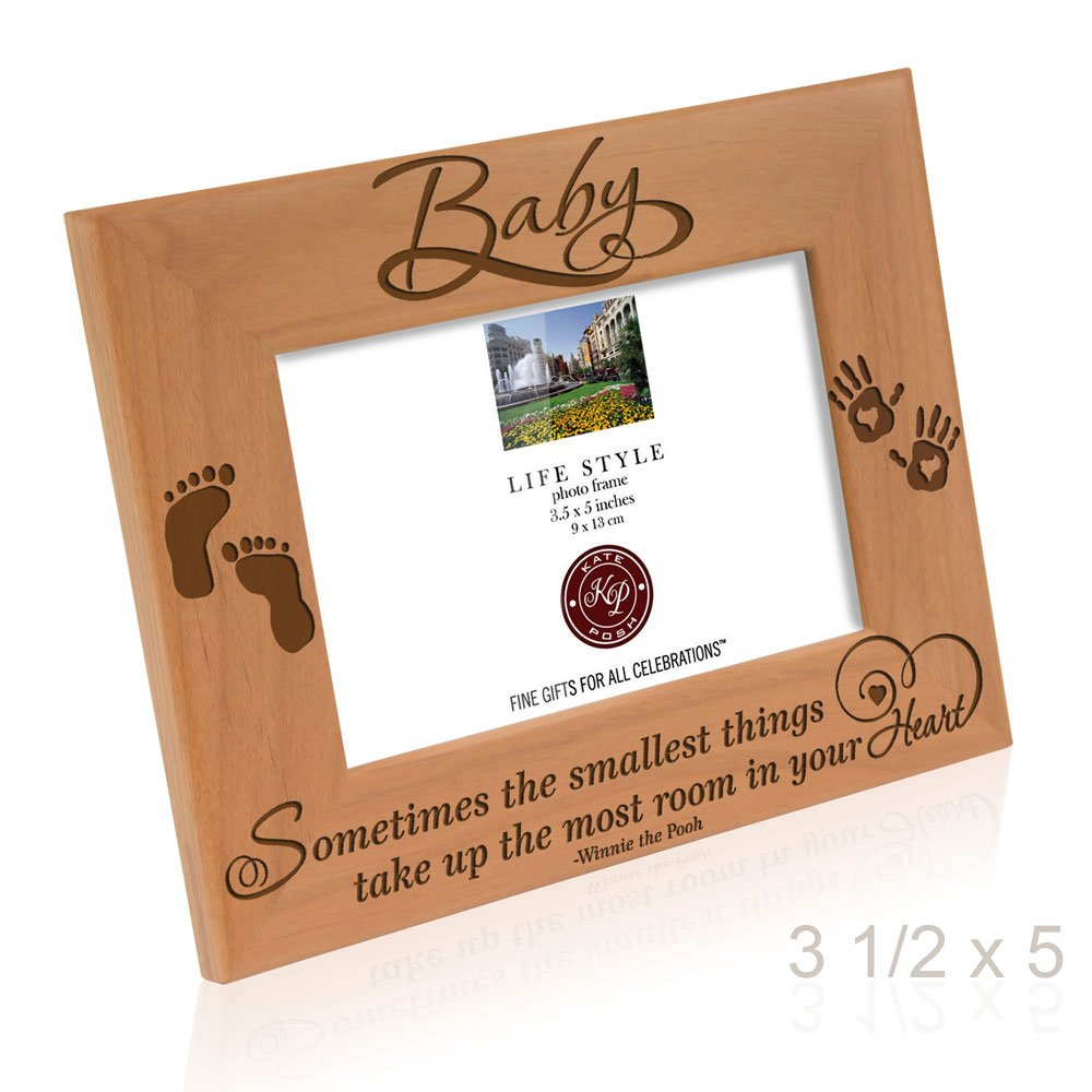 Kate Posh - Sometimes the smallest things take up the most room in your heart - Winnie the Pooh Sonogram Picture Frame (3 1/2 x 5 Horizontal - Baby) by Kate Posh (Image #4)