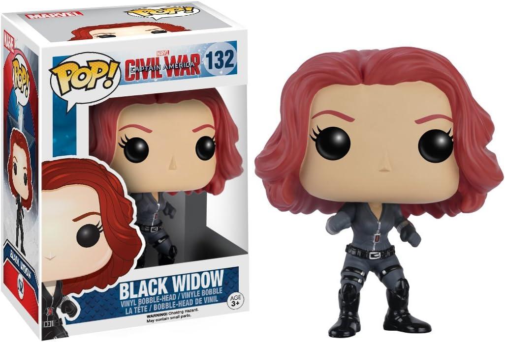 Funko- Pop Marvel Black Widow White Suit 46681 Multicolore Figurine de Collection