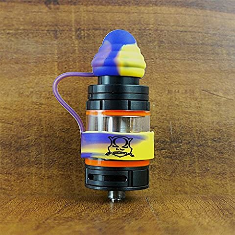 18mm ModShield TipTop ByJojo Silicone Tank Band with Drip Tip Cover Ring Top Covers WHOLESALE OPTION (Yellow/Purple (1 (Mods Drip Tip)