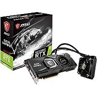 MSI GeForce RTX 2080 Ti SEA HAWK X - Tarjeta gráfica Enthusiast (PCI-E 3.0, Supreme Liquid Cooling Performance, 11 GB GDDR6, 352-bit, 4352 Core Units, 7000 Mhz Memory Clock Speed, MSI Afterburner)