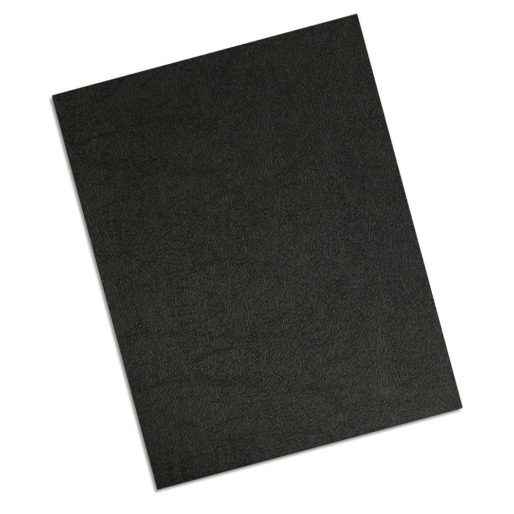 TruBind 8-1/2'' x 11'' Leather Texture Polycovers, 16 mil, Black (CLT16-ASBK)