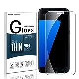 Etmury Galaxy S7 Protection d'écran, Verre Trempé Galaxy S7, Film de Protection d'Écran en Verre Trempé Protecteur Vitre 9H Dureté Anti-rayures [HD Ultra Clair Film] [Sans Bulles] pour Samsung Galaxy S7 (Clear-2)