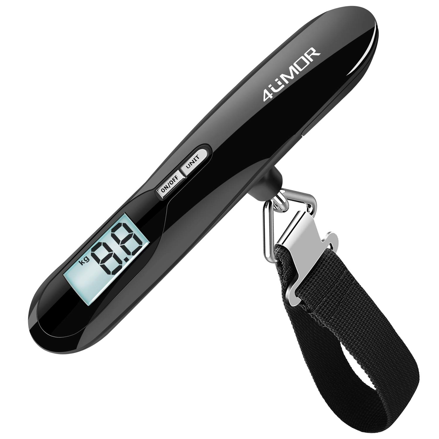 f349178d83af Electronic Luggage Scale, 4UMOR Portable Digital Suitcase Hanging Scales  with Tare Function Weighing Scale with Backlit Display for ...