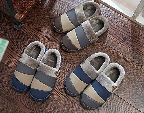 Pantofole xy W fodera e Men 41 cotone Winter Foderati nabuk in qtaafdx