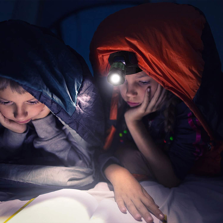 Sports Lauflicht Kopflampe USB Wiederaufladbare Wasserdicht Leichtgewichts Zoombar Kopfleuchte mit Rote Signalleuchte,Lauflicht f/ür Laufen Joggen Angeln Camping Radfahren Zenoplige LED Stirnlampe