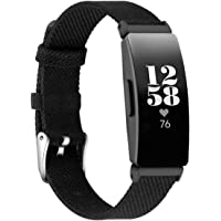 EZCO Bands Compatible with Fitbit Inspire HR & Inspire & Inspire 2, Woven Fabric Breathable Watch Strap Quick Release…