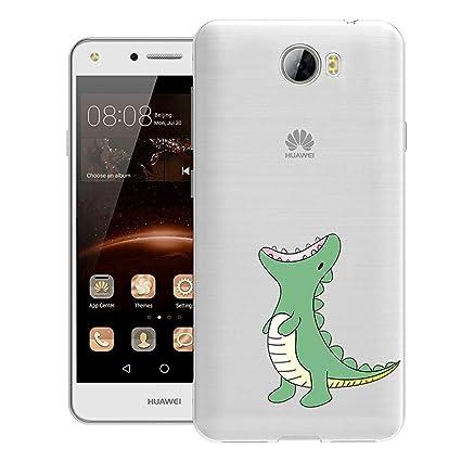 ocketcase Huawei Y6 II Compact Funda, TPU Carcasa Suave Silicona Flexible Gel Resistente a los Arañazos Tapa Protectora Case Cover (Color 02)