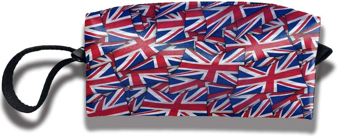 Travel Make-Up Bags United Kingdom Flag Wave Collage Women Cosmetic Bag Multifuncition Durable Pouch Zipper Organizer Bag