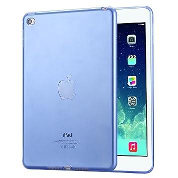 KTC Computer Technology FLOVEME para el iPad Mini 4 comprimidos cajas de moda ultra fino suave TPU parte posterior del claro cubierta delgada transparente: ...