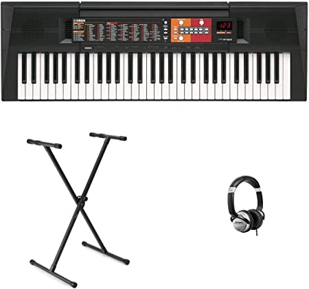 Teclado electrónico Yamaha PSRF51 – Negro & X-Stand & Juego ...