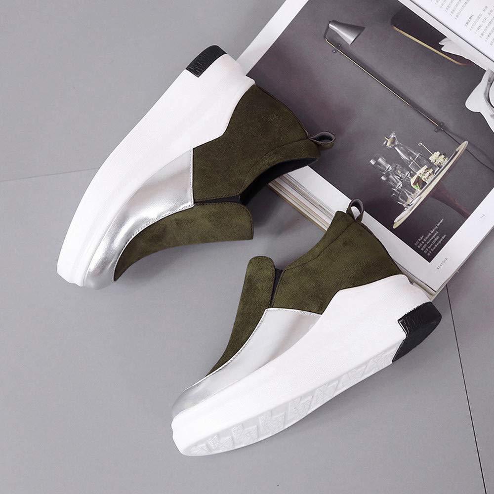 luoluoluo Femme Chaussures de Sport Course Sneakers Jogging Fitness Gym Sports Shoes Chaussures /à Plateforme /éPaisse Semelle de Protection