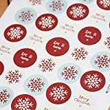 East of India Sticker Sheet - Round Christmas (40)