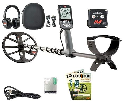 Minelab Equinox Metales cubremetales Impermeable Submarino hasta MT. Auriculares inalámbricos Bluetooth multifrecuencia Busca Oro