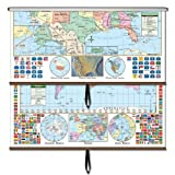 U.S./World Primary Wall Map Combo Roller (Primary Classroom Wall Maps)