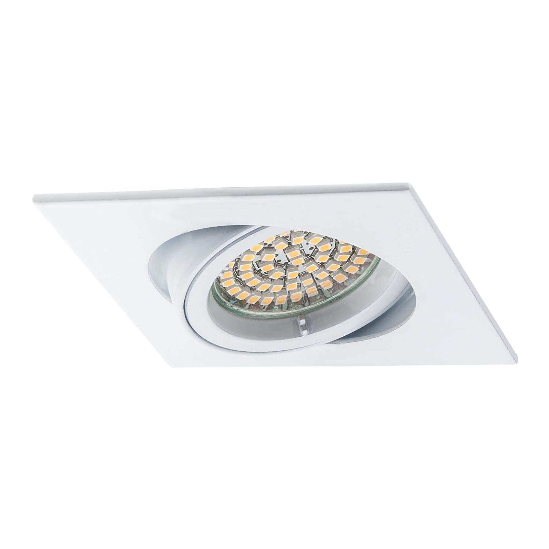 LED//Halogene Aluminium Culot GU10 pivotant Carre sebson/® 6X Spot encastrable orientable Type 9 INCL Blanc