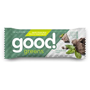 Good Greens Chocolate Mint Protein Bars, Gluten-Free, Dairy-Free & Vegan