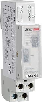 Vemer Ve073300 Interruptor lsm-01 Luces escaleras Temporizador electromecánico de Barra DIN, Gris Claro: Amazon.es: Bricolaje y herramientas