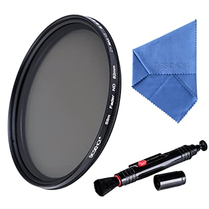 .com : beschoi 58mm nd lens filter kit fader neutral density ...