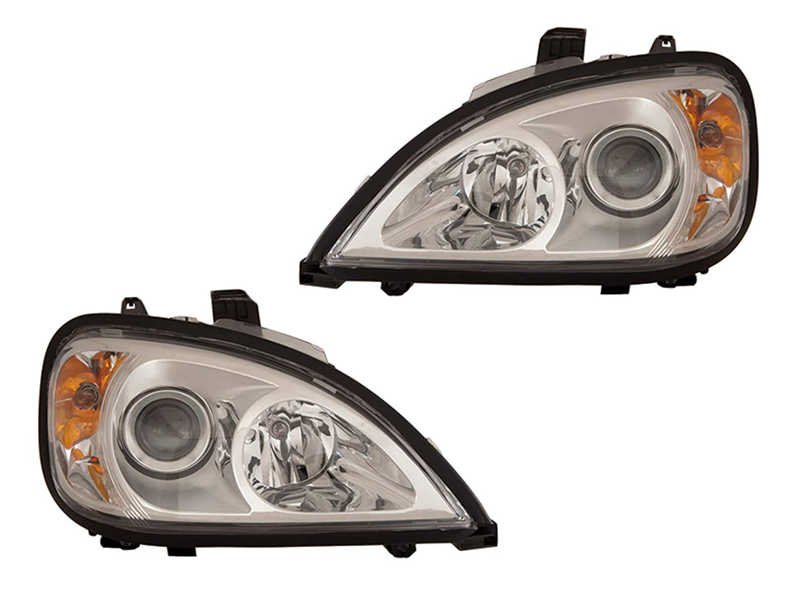 Freightliner Columbia Replacement Chrome Projector Headlights Headlamps Pair Set New by Headlights Depot