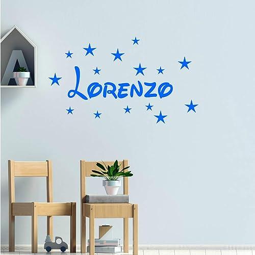 Stickers mural prénom disney + 15 étoiles. Décoration mur chambre ...