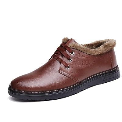 Agregue Zapatos De Algodón Invierno Hombres Ocio Zapatos Encajes Bajos Para Ayudar Hombres Zapatos Sueltos