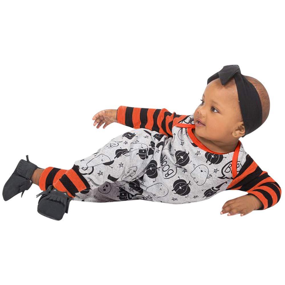 WINWINTOM Conjuntos Bebe Ni/ña Halloween Estampado Animal Body Bebe Manga Larga Monos Mameluco Ropa Bebe Recien Nacido Ni/ño Invierno