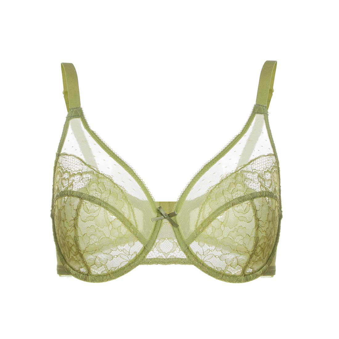 HSIA Womens Minimizer Bra Unlined Underwire Full Figure Lace Bra Plus Size Full Coverage Unpadded Bra 34C-44DDD