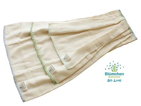 Blümchenstoff pañales prefold 6 pcs algodón orgánico Talla:XS