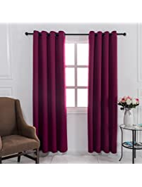 Mangata Casa Blackout Window Curtains Thermal Insulated Grommet Bedroom  Drapes With 2 Tie Backs, 2