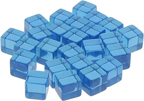 FLAMEER 25 Piezas D6 Seis Lados Transparente En Blanco Dice El Juego De Mesa - Azul Transparente: Amazon.es: Juguetes y juegos