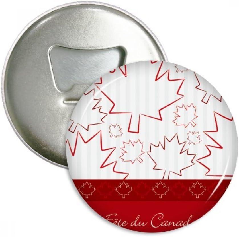 Happy Canada Day 4th Of July Maple Leaf Bottle Opener Fridge Magnet Emblem Multifunction Badge