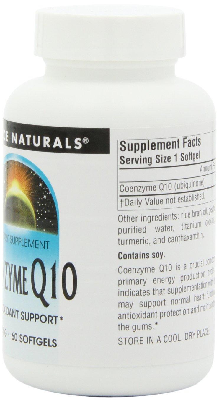 Source Naturals Coenzyme Q10, 200mg, 60 Softgels: Amazon.es ...